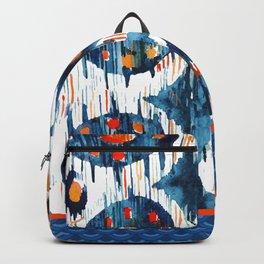 BLUE CIRCLES IKAT Backpack