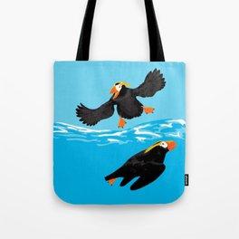 Bering Sea Puffins Tote Bag