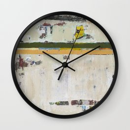 Chariot White Abstract Modern Painting Art Wall Clock