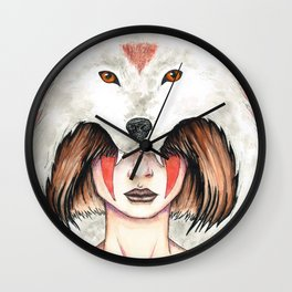 Wolf Queen Wall Clock