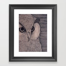 Owl Eyes Framed Art Print