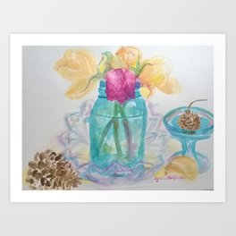 Last of The Birthday Flowers Art Print