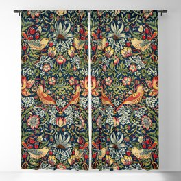 Strawberry Thief by William Morris 1883 Antique Vintage Pattern CC0 Spring Summer Blackout Curtain
