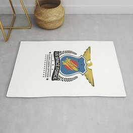 US Space Force Crew Member Art Alien Liason Officer Light Rug