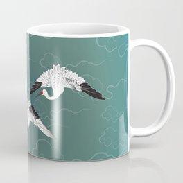Three White Cranes Coffee Mug