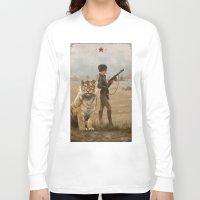 kittens Long Sleeve T-shirts featuring 1920 - kittens by Jakub Rozalski