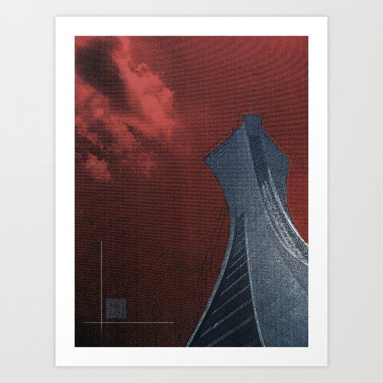 Olympic Tower Art Print
