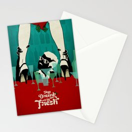 Stay Drunk and be Fresh! - Christmas wish Stationery Cards