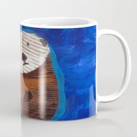 otter Mugs featuring Otter by Cre8tive Papier