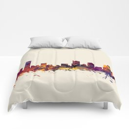 Grand Rapids Michigan Skyline Comforters