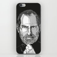 steve jobs iPhone & iPod Skins featuring Steve Jobs by 1and9