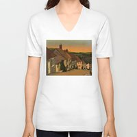 agnes V-neck T-shirts featuring Daybreak by Megs stuff