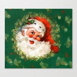 Bubble Dot Santa Christmas Canvas Print