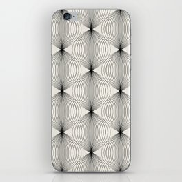Geometric Orb Pattern - Black iPhone Skin