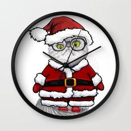 Super Puff Santa Wall Clock