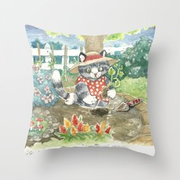 a bit of earth Throw Pillow