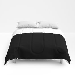 Color Block-Black and White Comforters