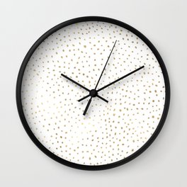 Dotted Gold Wall Clock