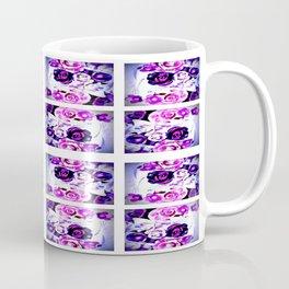Purple Floral Panel Coffee Mug