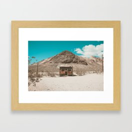 In The Middle of Nowhere | Rhyolite, Nevada Framed Art Print