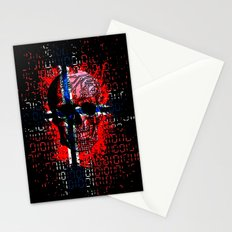 Skull circuit (norway-flag) Stationery Cards