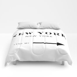 New York New York City Miles Arrow Comforters