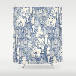 just cattle classic blue pearl Shower Curtain