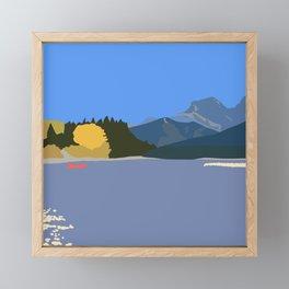 Fall in the mountains Framed Mini Art Print