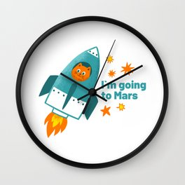 I'm going to Mars Wall Clock