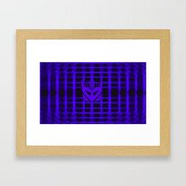 Decepticon Insignia Framed Art Print