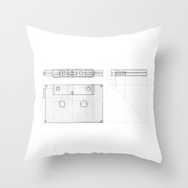 Cassette Tape  Projection Throw Pillow