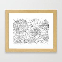 Spider Webs Framed Art Print