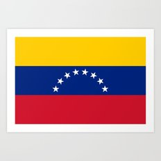 The national flag of the Bolivarian Republic of Venezuela -  Authentic version Art Print