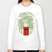 yetiland Long Sleeve T-shirts featuring Let's meet at the red post box by Yetiland