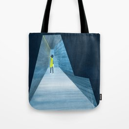 Inside the silver string piano Tote Bag