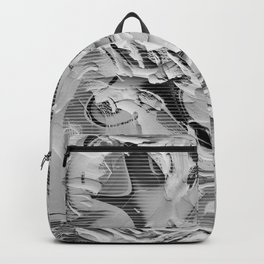 Abstract grey cement graffiti wall Backpack