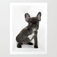french bulldog Art Prints featuring French Bulldog by Three of the Possessed