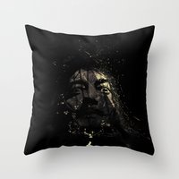salvador dali Throw Pillows featuring Salvador by nicebleed