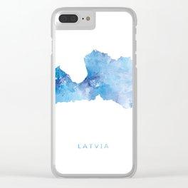 Latvia Clear iPhone Case