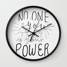 No One Is You Wall Clock