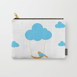 Cute bird and cloud Carry-All Pouch