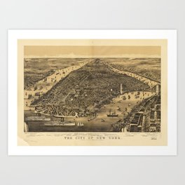 The City of New York by Currier & Ives (1889) Art Print