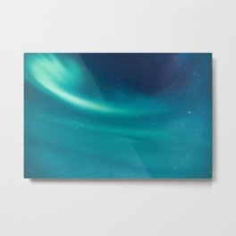 Turquoise Star Galaxy Metal Print