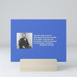 American Values Mini Art Print