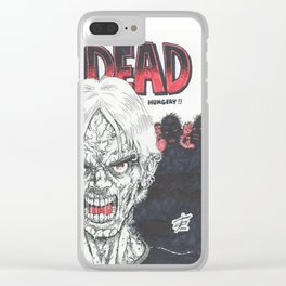 The Undead Are Hungry Clear iPhone Case