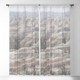 Fantastic Badlands Sheer Curtain