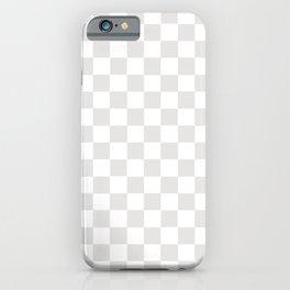 CheckMate Palladium White iPhone Case