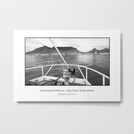 Entering the Harbour Metal Print