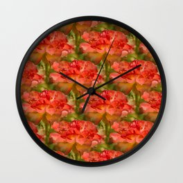 Roses Galore Wall Clock