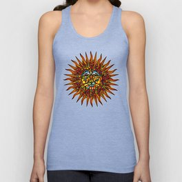 Psychedelic Sun Unisex Tank Top
